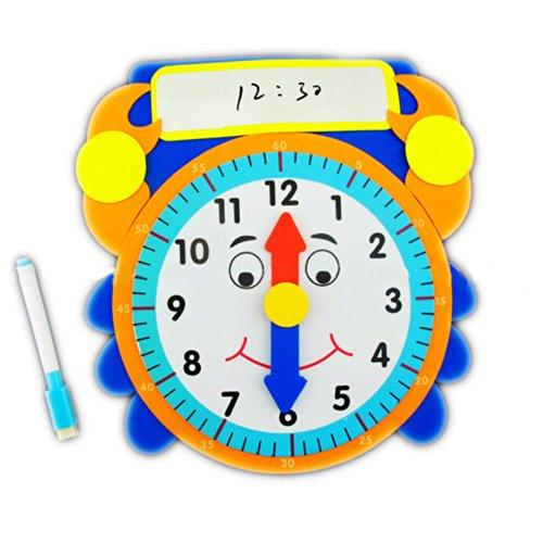 海鲸diy手工制作识时钟系列 时间教具玩具儿童认知学习提升 附白板/笔