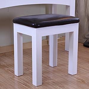 白色时尚实木梳妆凳 梳妆台凳子 家居椅凳 田园时尚宜家换鞋凳 欧式