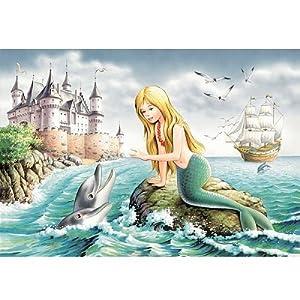 castorland 巧思进口拼图500片 小美人鱼 生日礼品装饰画50802