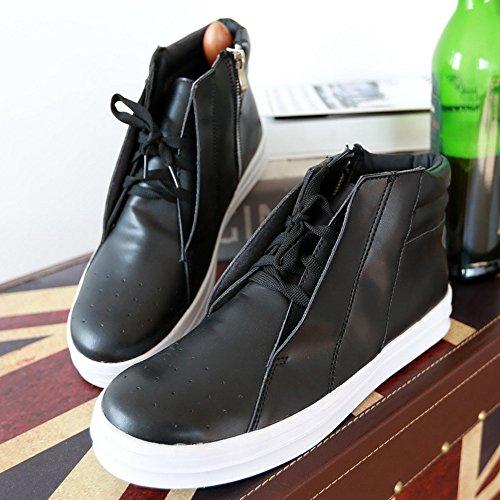 秋冬 韩版人气潮流高帮男鞋时尚潮鞋个性短靴休闲男鞋运动板鞋