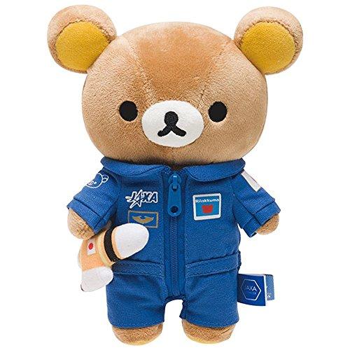 轻松小熊 松弛熊jaxa航太博览会 毛绒小公仔 毛绒玩偶玩具 可爱超萌