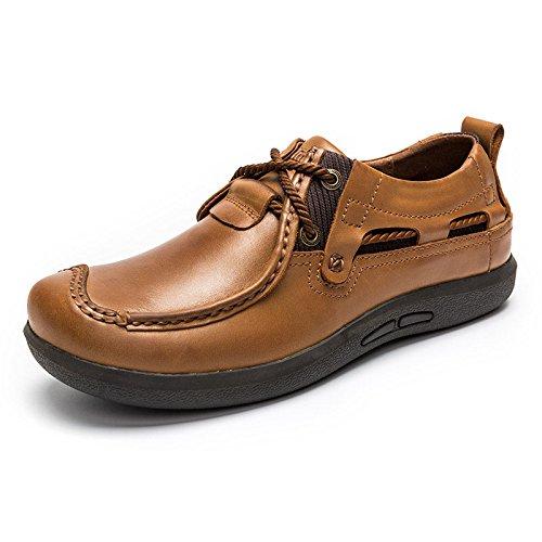 MULINSEN 木林森 男鞋户外休闲鞋男士皮鞋系带韩版潮流单鞋子