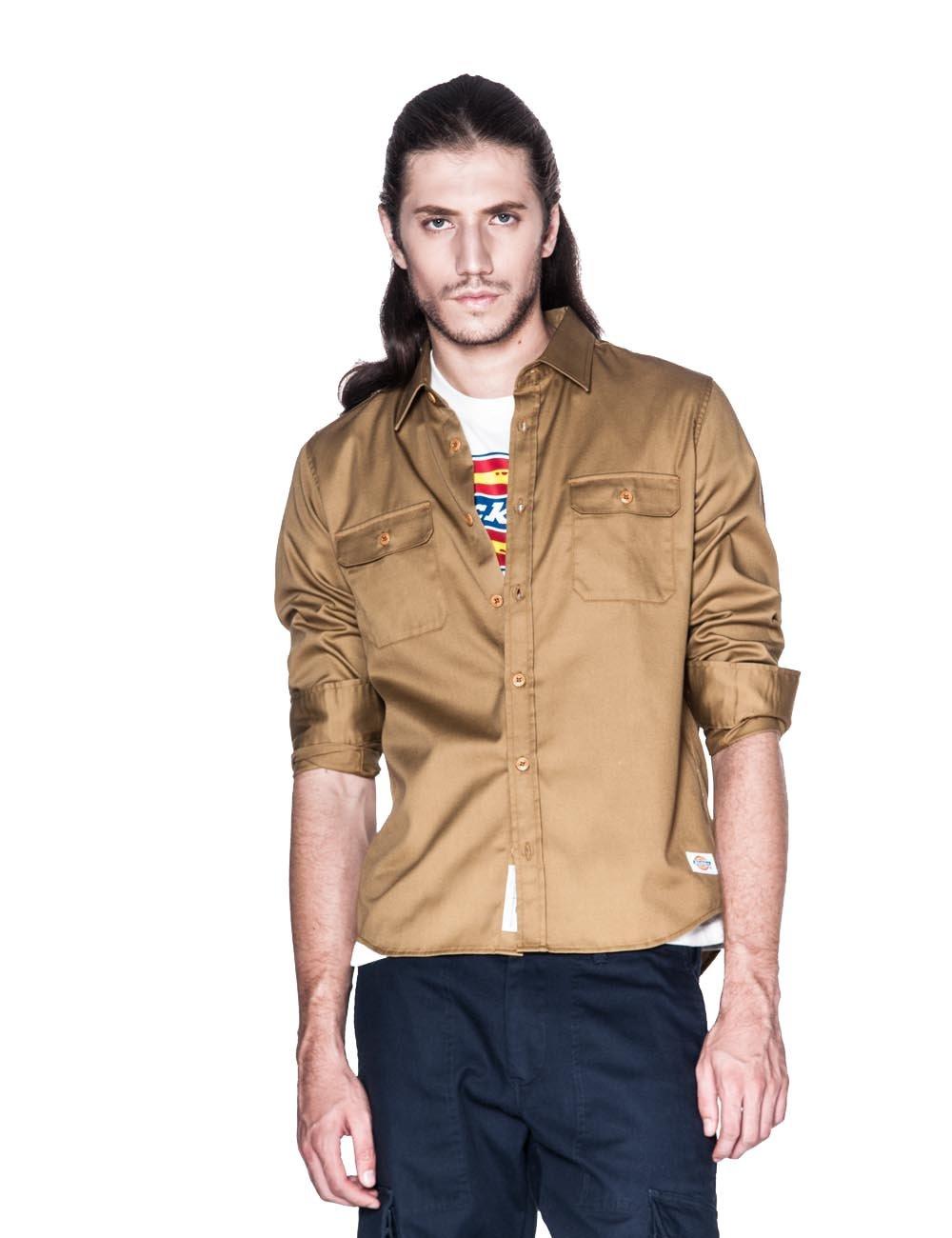 dickies 休闲系列 男式 中厚度tc斜纹长袖工装衬衫 133m20wd12