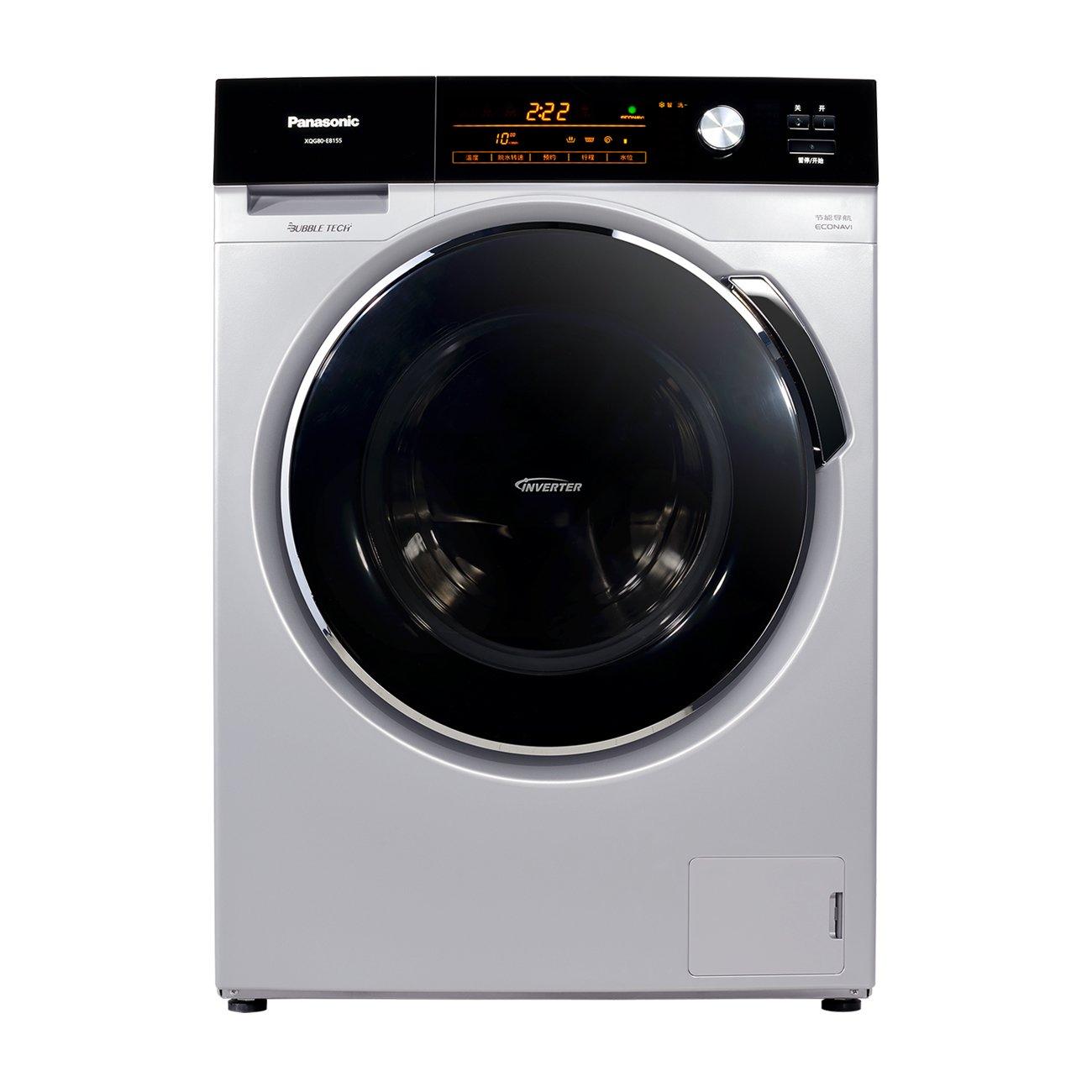 松下 8.0kg全自动滚筒洗衣机xqg80-e8155