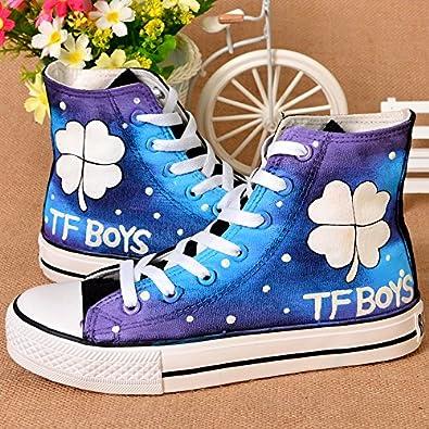 tfboys中帮手绘鞋涂鸦
