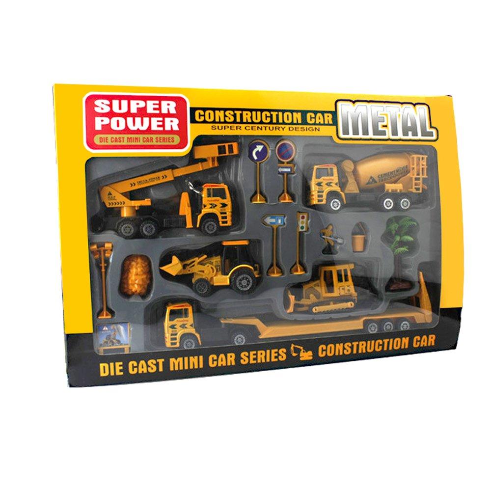 猫徒贝贝 儿童玩具车回力合金仿真车模套装 工程系列玩具车 儿童益智