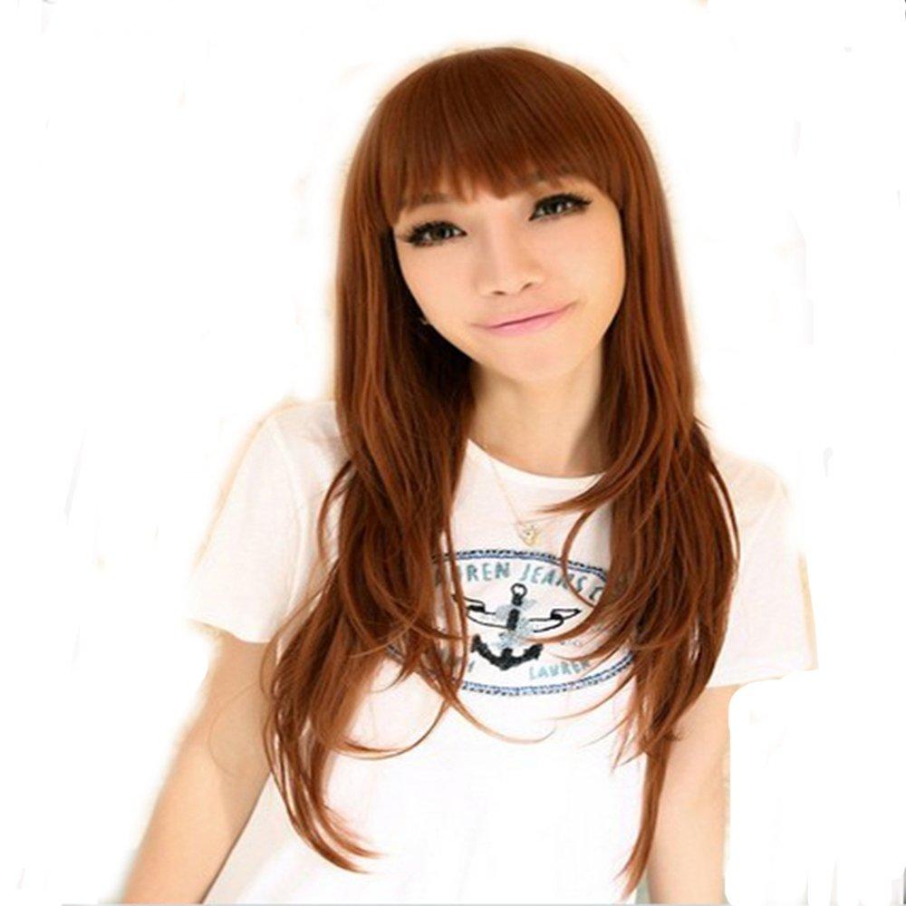 德尼雅 新款蓬松 时尚非主流齐刘海 修脸甜美可爱女生