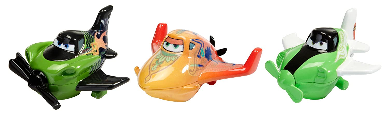 disney 飞机总动员 micro drifters ripslinger,zed 和 ishani 3 件装
