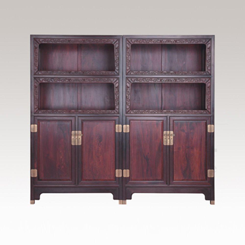 仙游御典红木家具 印度小叶紫檀明式亮格柜 小叶紫檀万历柜 红木储物