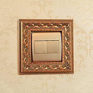 美其美纳 欧式开关贴套墙贴 创意家居装饰品 高档复古