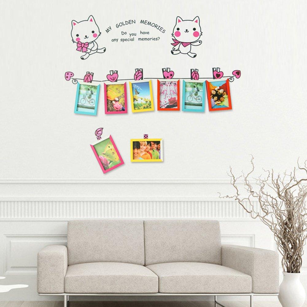 彩云边 儿童挂墙相框组合卧室宝宝照片墙创意画框 相框墙画框组合