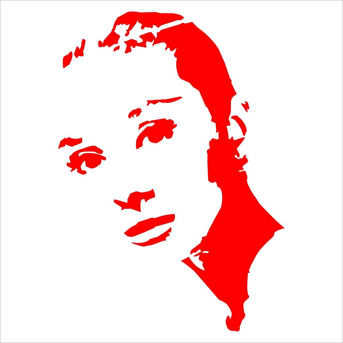 sk 深卡 个性运动女人名人图案车身随意贴系列45款 红色 15厘米