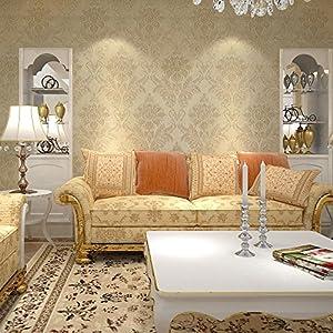 睐可 墙纸 欧式经典时尚大气大马士革卧室客厅书房餐厅百搭壁纸32lk20