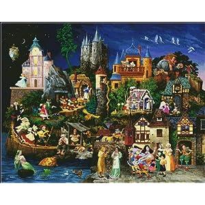 十字绣 客厅卡通风景画 梦幻城堡魔法城堡满绣 11CT DMC线 3股