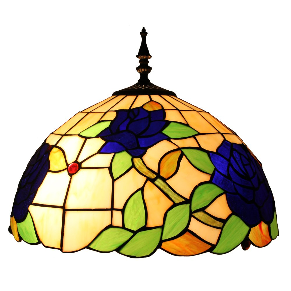 结婚送礼客厅卧室书房田园灯具创意时尚蓝色玫瑰花落地灯d160015f-2图片