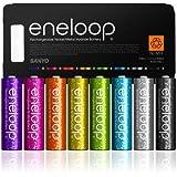 sanyo三洋爱乐普(eneloop)8HR-3UTGA-SESU-SL 8色亮彩5号镍氢充电电池纪念版 5号8节装
