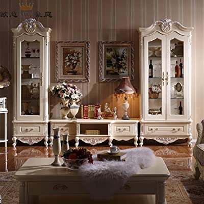 欧意豪庭 欧式田园风格电视组合柜中柜子1.