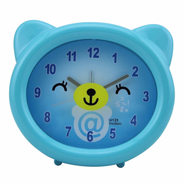 创意儿童卡通 可爱小熊 闹钟 8328 蓝色