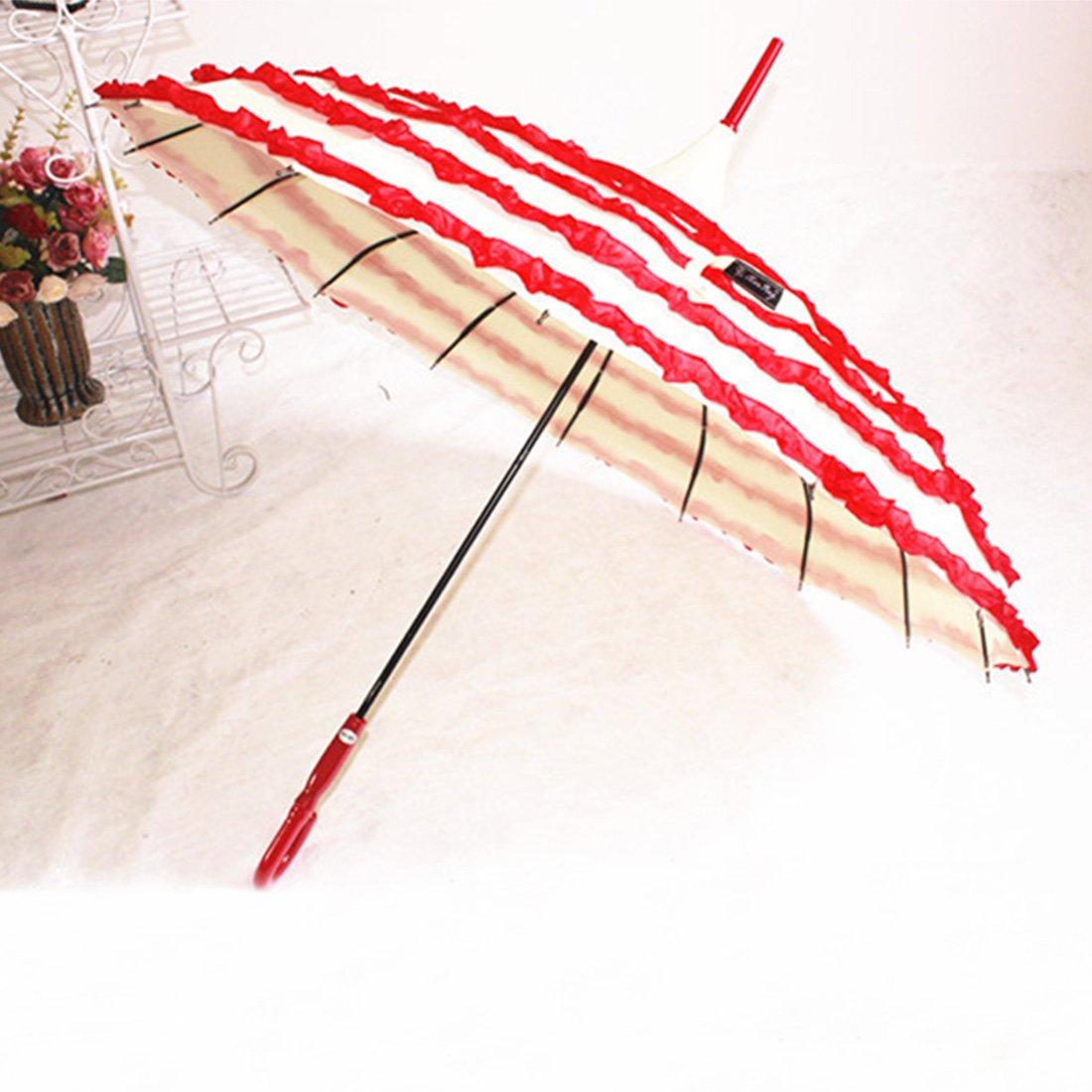 创意宝塔蕾丝雨伞 可爱淑女复古宫廷花边公主伞 16骨长柄弯钩晴雨遮阳