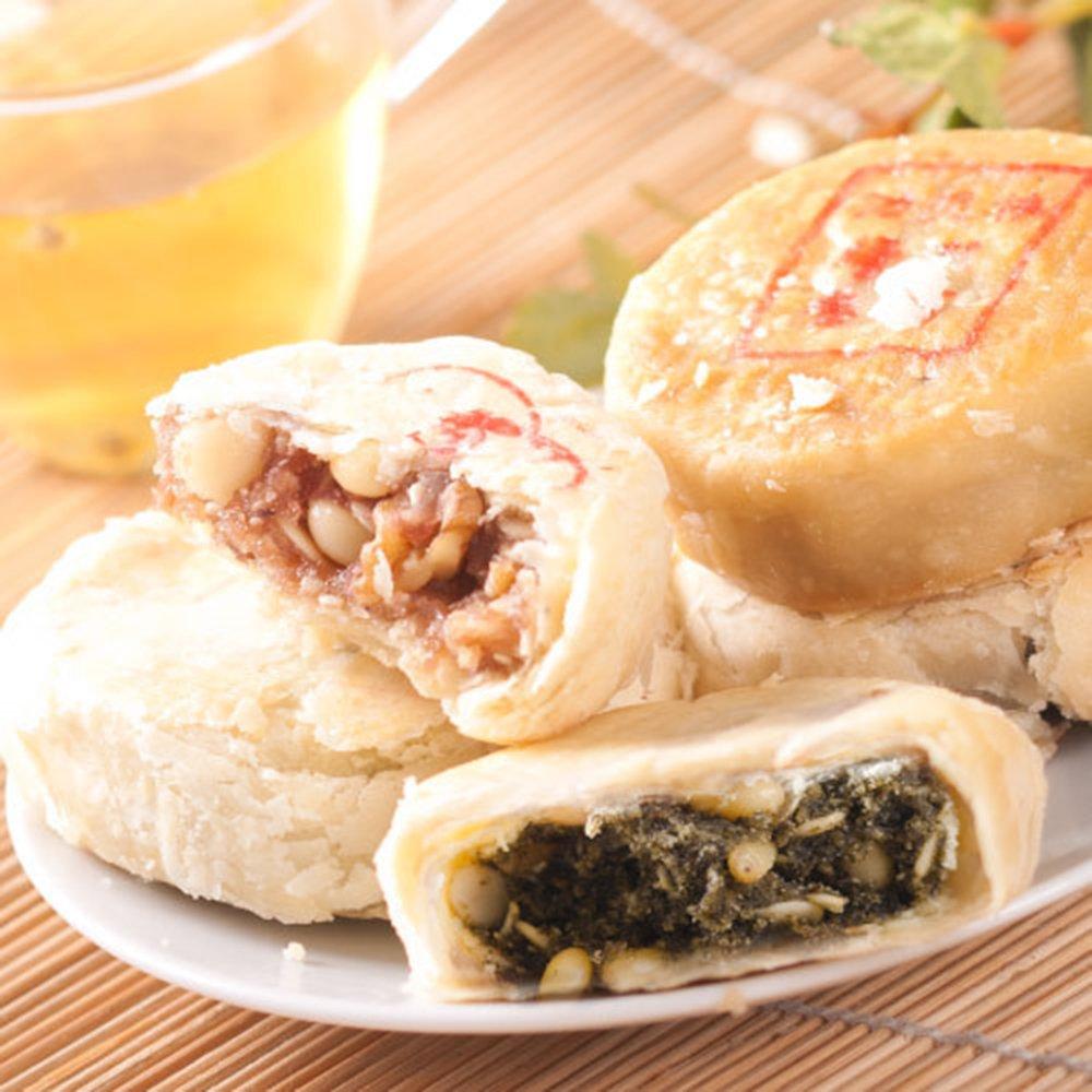 2014功德林中秋苏式月饼 混合口味8个 散装独立包装无图片