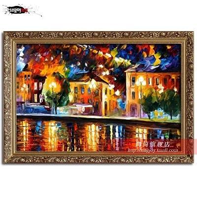 家居客厅欧式壁挂装饰纯手绘油画