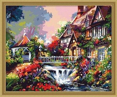 客厅卧室风景情侣手绘装饰画