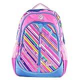Barbie 芭比女生书包书包 中小学生书包 高年级休闲双肩包 减负书包 (BL8672B蓝  赠送女款笔袋型号随机发送)-图片