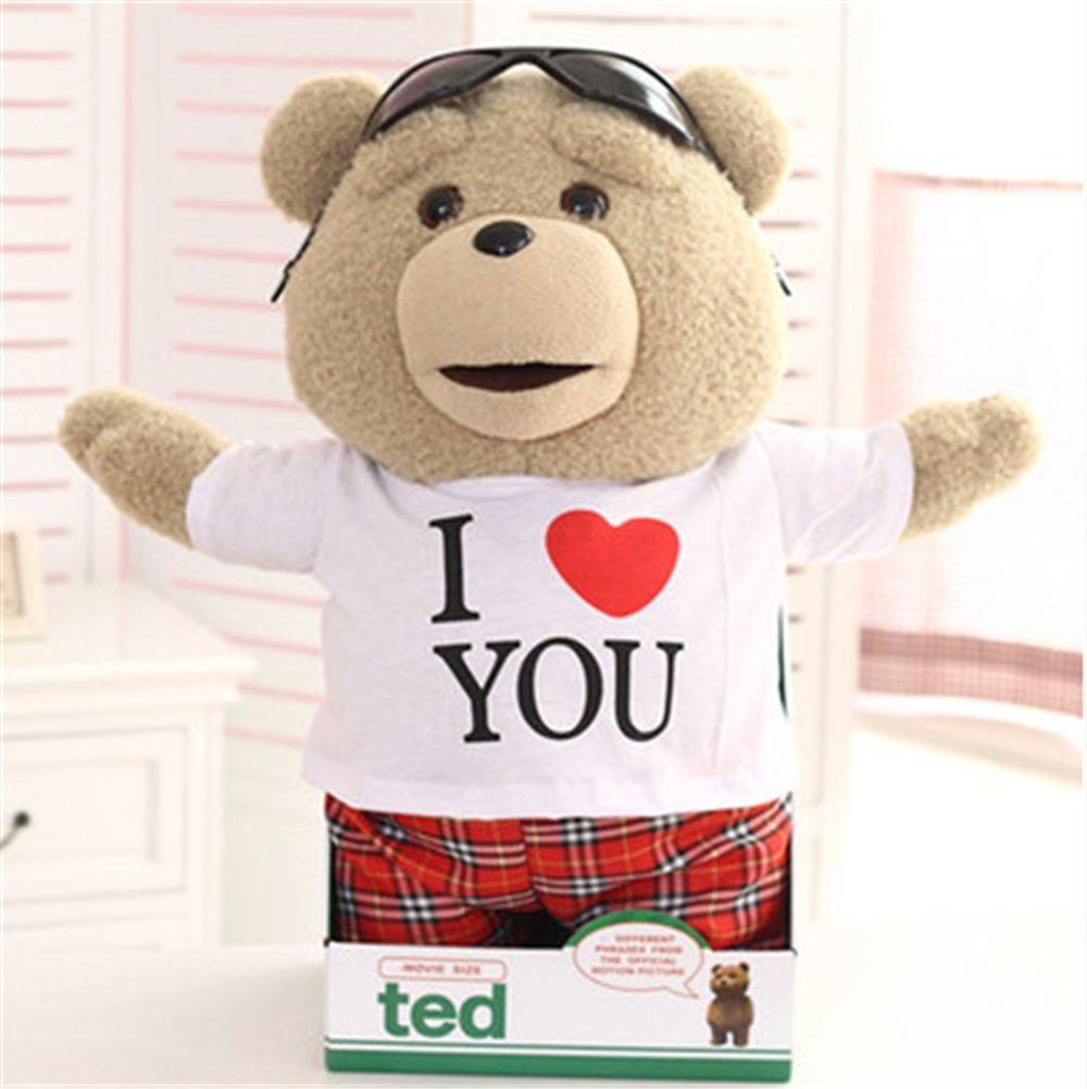 泰迪熊 毛绒玩具会说话的小熊 贱萌熊公仔 抱抱熊 玩偶 布娃娃 生日