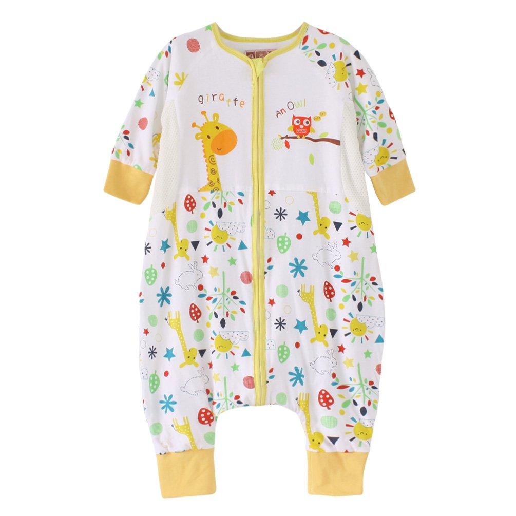 星呗熊 春夏秋季婴儿分腿睡袋防踢被宝宝儿童睡袋双层纯棉7790