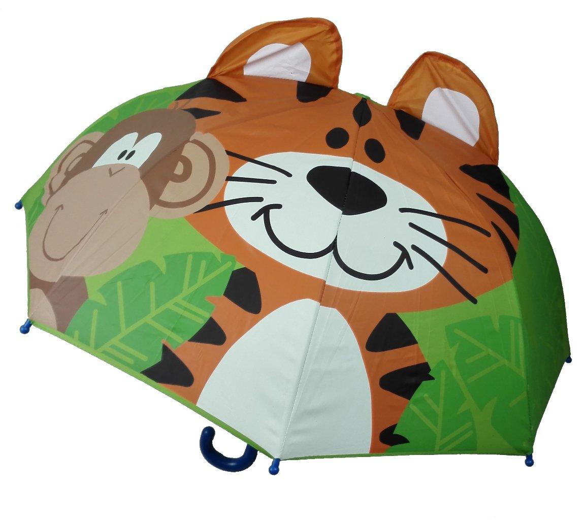 color woods 七色森林 立体3d儿童晴雨伞 欢乐小老虎