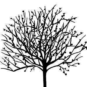 秋田映画 黑白抽象发财树现代装饰画客厅卧室办公室简约壁画 12mm薄板