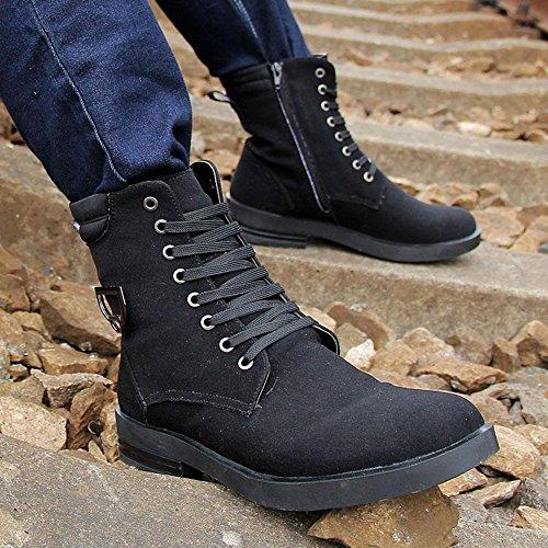 秋冬时尚 休闲马丁男鞋加绒保暖棉靴潮流军装雪地靴棉鞋英伦潮鞋