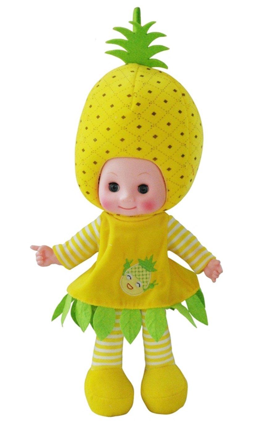 adingb爱丁堡 水果娃娃 可爱毛绒娃娃 会说话娃娃 (菠萝)