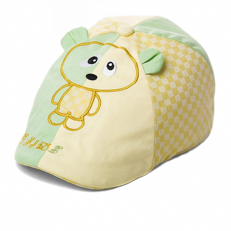 siggi 儿童帽子夏天韩版鸭舌帽可爱宝宝帽男童卡通贴布绣童帽贝雷帽