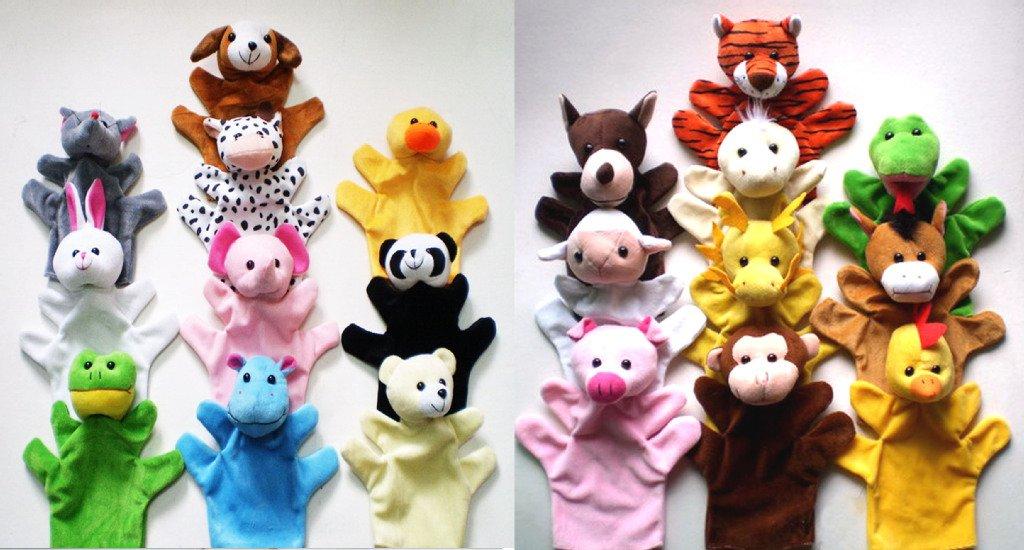 大号动物12生肖手偶 讲故事安抚逗乐宝宝 婴幼儿益智玩具五指玩偶