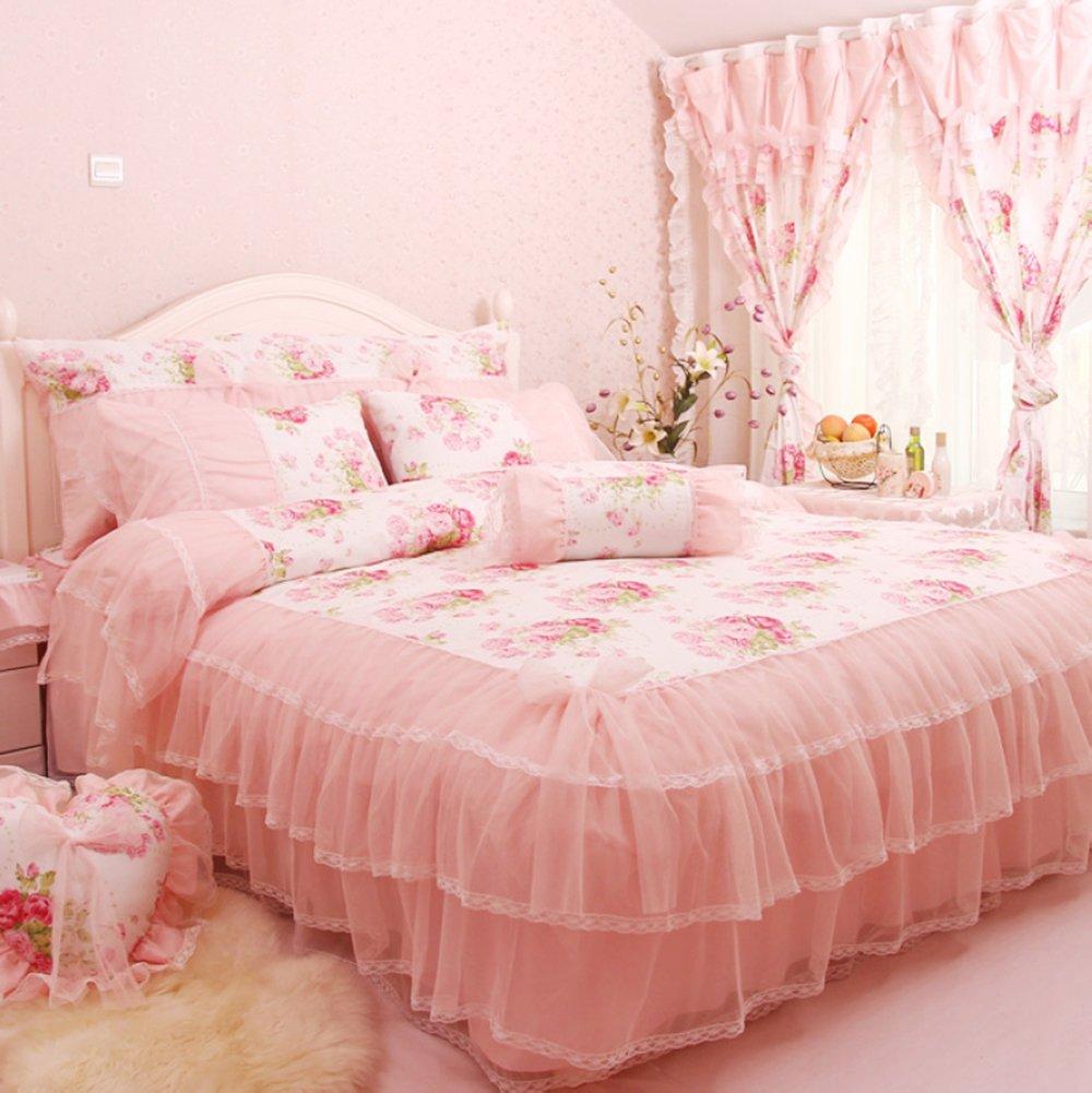 床品四件套全棉 结婚床上用品纯棉韩版公主田园