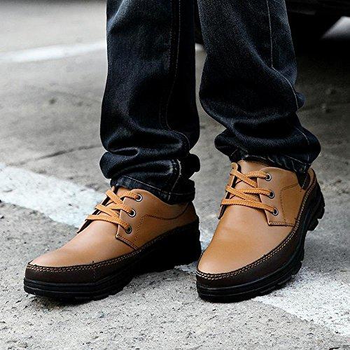 男士休闲鞋 商务皮鞋男冬季流行男鞋 真皮低帮鞋子男