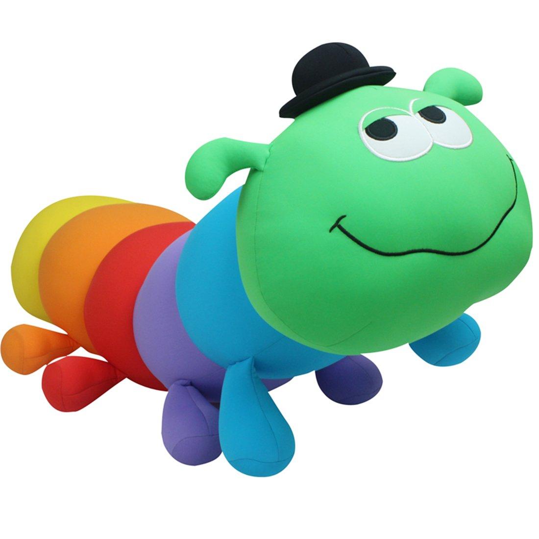 七彩虹大号毛毛虫玩具千年虫布娃娃可爱毛绒