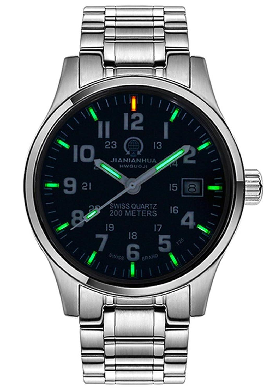 瑞士嘉年华手表 进口石英机芯氚气自发光夜光防水腕表