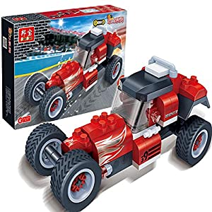 拼插小颗粒积木益智儿童玩具跑车