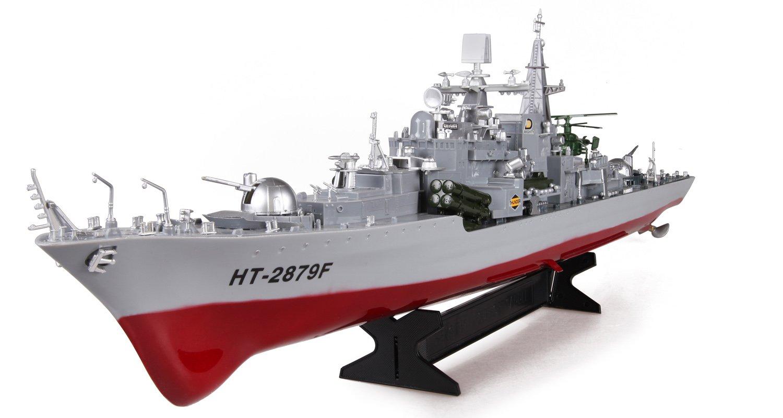 恒泰儿童电动玩具 超大遥控船模型高速快艇轮船军舰