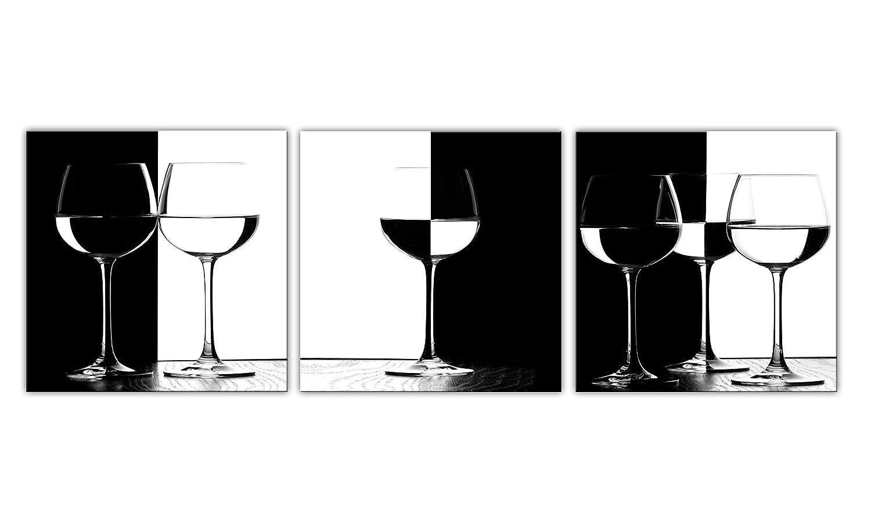 qimei 琪美 黑白配酒杯 现代简约挂画 无框画沙发墙客厅装饰画电表箱