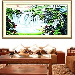美特卡卡十字绣 风景系列ks- 8566 泉源广长 最新款客厅大画 精准印花