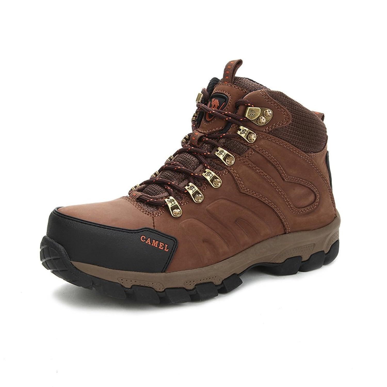 Camel 骆驼 男款登山鞋 2015秋冬新款皮质防滑减震高帮徒步登山鞋3W309004