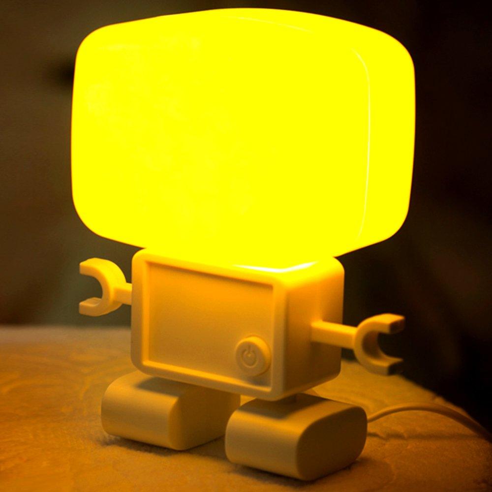 俏物悄语 智能声控光控机器人台灯 家庭书房装饰灯 创意时尚个性灯饰