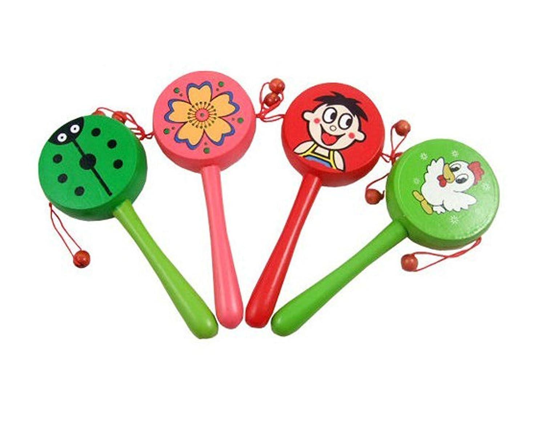 卡通拨浪鼓 音乐玩具 木制幼儿玩具