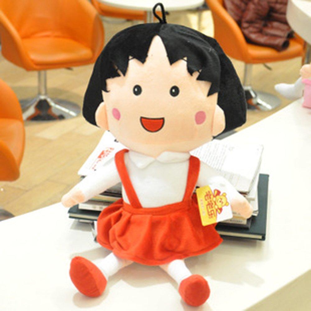 大眼猫 可爱樱桃小丸子布娃娃 毛绒玩具公仔 创意玩偶