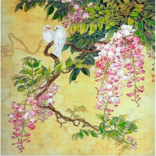 无框仿真油画 中国工笔画系列之我心依旧 JD13017 40 40cm图片