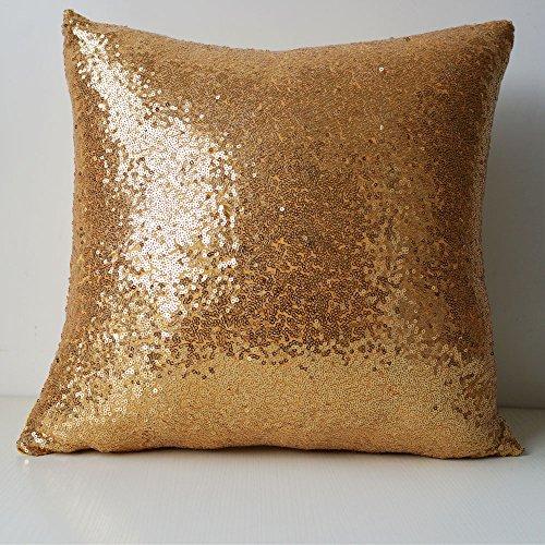 lmdec 欧式奢华沙发装饰品抱枕靠垫套 金色 全亮片 不