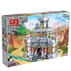 小颗粒积木教育玩具中心城堡